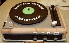 Turntable Cake for 65th Birthday
