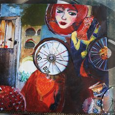 A bicyclette | par pole in Illustrations, Painting, Art, Bicycle Kick, Art Background, Illustration, Painting Art, Kunst, Paintings
