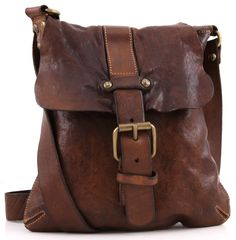 Campomaggi Lavata shoulder bag leather cognac 28 cm - C1369VL-1702 - Designer Bags Store - wardow.com