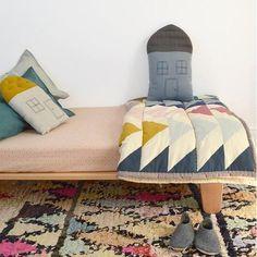 Camomile London House Cushion - Chambray/Dark Grey - Midi | Camomile London | Jack & Willow