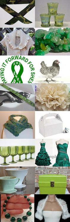 The green and white collection! by Rachel on Etsy--Pinned with TreasuryPin.com