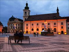 """Sibiu, Romania - This Transylvanian city of almost with a Bohemian-chic vibe, is a cultural powerhouse recently ranked by Forbes as Europe's """"eighth-most idyllic place to live. Most Beautiful Cities, Wonderful Places, Sibiu Romania, European Travel, Travel Europe, Backpacking Europe, Rest Of The World, Future Travel, Best Cities"""
