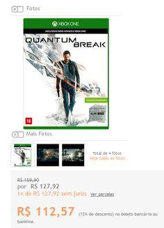 [ShopTime] - Quantum Break ONE 111,30 já com frete para SC