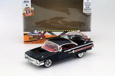 Chevrolet Impala Baujahr 1960 Garage Custom Kit schwarz 1:24 Jada Toys in…