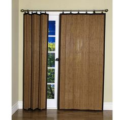 Bamboo Colonial Brown Ring Tab Curtain Panel X By Versailles Trina Everett Patio Door Treatments
