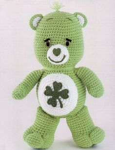 Good Luck Care Bear Crochet Pattern by exceptionalpatterns on Etsy, $6.00
