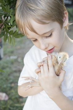 Kids and their chickens :) An Easter shoot by Confetti Mag - www.confettimag.c... Photo by Honey Atkinson, Styling by Karen Locke.