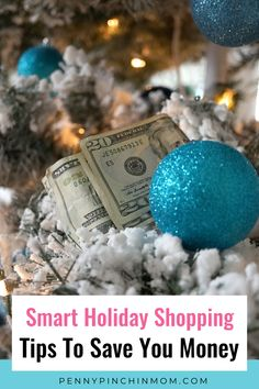 Saving money on Christmas or Hanukkah doesn't have to be difficult. There are simple, practical things anyone can do to keep the spending in check while getting the items you want Save Your Money, Ways To Save Money, Money Tips, Money Saving Tips, Budget Holidays, Christmas On A Budget, All Things Christmas, Financial Stress, Extra Money