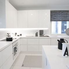 White kitchen design looks perfect to complete your home. As you know that kitchen design is important. Additionally, the kitchen becomes the favorite place for family… Continue Reading → Luxury Kitchen Design, Best Kitchen Designs, Luxury Kitchens, Home Kitchens, Kitchen Interior, Kitchen Decor, Kitchen Ideas, Grand Kitchen, Home And Deco