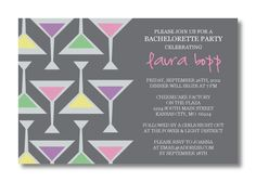 Printable Bachelorette Invitation.