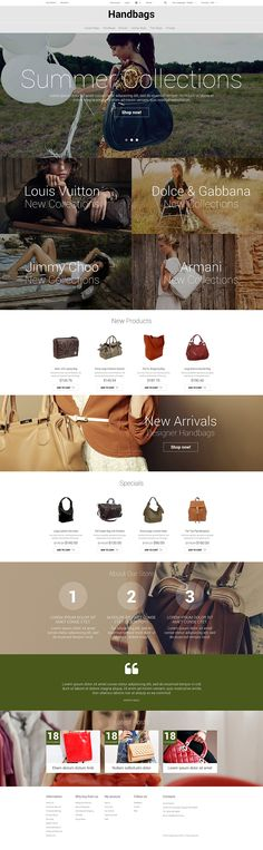 Handbag Responsive #Magento Theme #52324