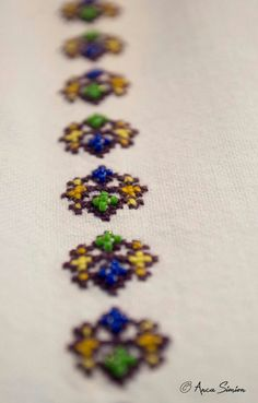 New embroidery, recreation of original blouses in museums around the world. Folklore, Museums, Hand Embroidery, Diy And Crafts, Oriental, Textiles, Blouses, Brooch, Detail