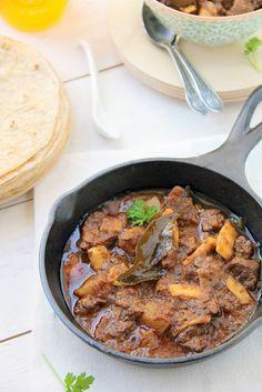 ! Vazhayila.com: Grandma's Nadan Beef - Potato Curry + Oven and Stove top cooking methods
