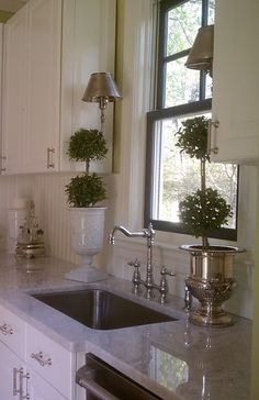 Topiaries in the kitchen