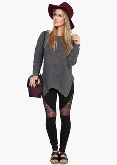 Lace Legging in Black | Necessary Clothing