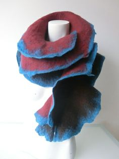 Gola/écharpe grande em lã Merino