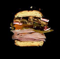 Kitchen-sink sandwich.