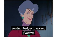 vondur : bad, evil, wicked