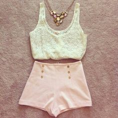 I love this outfit but I think the shorts look too short