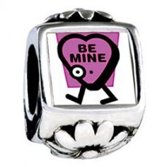 Cute Purple Be Mine Photo Flower Charms  Fit pandora,trollbeads,chamilia,biagi,soufeel and any customized bracelet/necklaces. #Jewelry #Fashion #Silver# handcraft #DIY #Accessory