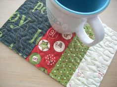 Countin' Down mug rug by Silly Mama Quilts