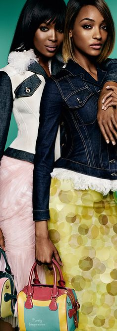 Naomi Campbell ~ Jourdan Dunn Burberry The Spring/Summer 2015 Campaign   Purely Inspiration