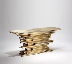 Console . Pipe Show by Van der Straeten_1  | see more at www.bocadolobo.com #bocadolobo #luxurydesign #luxuryfurniture #consoletable