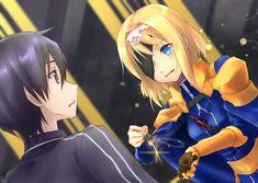 Kirito and Alice   Sword Art Online (SAO) Alicization-Underworld