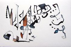 """Saatchi Art Artist motoko kamada; Drawing, """"indigo & indian red 9"""" #art"""
