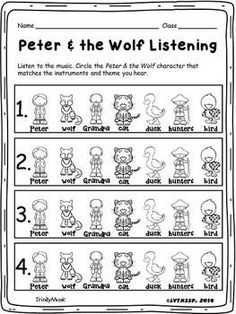 This quiz will help you assess how well your students can identify the character from Prokofiev's, Peter & the Wolf, with its instrument(s) and theme. If you like this FREE item, please take a moment to look at some of my other products and remember...