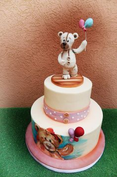 sweet teddy bear by lucycrazzycakes