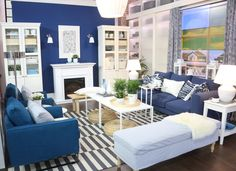 Marilyn Dennis Show Electric Fireplace in a perfect living room