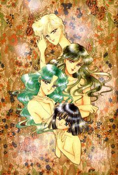 Outer Senshi, Artwork by Naoko Takeuchi for Sailor Moon