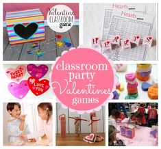classroom party valentines games
