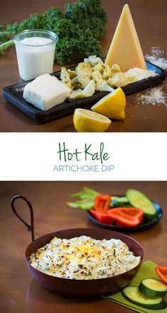 Hot Kale & Artichoke Dip – Healthy ingredients like artichoke, Greek yogurt and kale give this delicious dip a creamy consistency without the heavy calories. Finally a dip you can feel good about eating!