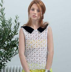 Modèle top rétro au crochet femme - Modèles Femme - Phildar