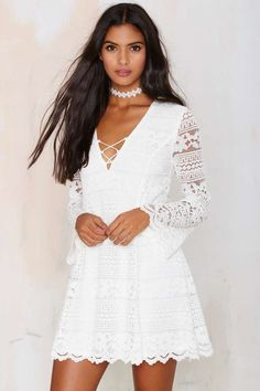 Crossed Hearts Lace Dress   Shop Product at Nasty Gal!