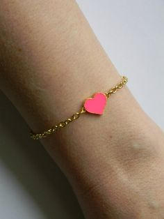 You have My Heart Pink Heart Bracelet