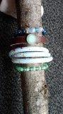 set 4 items, 1 real leather. € 17,50 ex shipping landhofschober@hotmail.com Real Leather, Bracelets, Armband, Bangles, Bracelet
