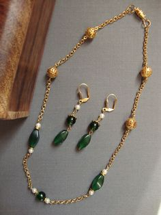 Renaissance Inspired Necklace and Earrings by beadifulbroad, $24.00