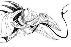 Digital art drawing: Blend (2015)  Ink on paper (digital colors) ©Simone Guimaraes