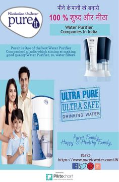 #Pureit is One of the best #WaterPurifierCompaniesInIndia which aiming at making good quality Water Purifier, ro, water filters.