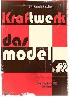 KRAFTWERK-DAS-MODEL-1978-Fine-Art-Music-Poster-1970s-SEVENTIES-RED-BLACK-PRINT