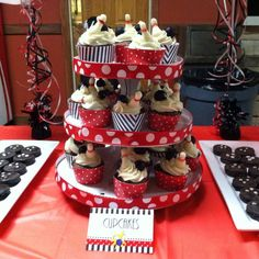 Fun cupcakes at a bowling birthday party! See more party planning ideas at CatchMyParty.com!