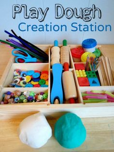 Play Dough Creation Station: A super simple play prompt that will keep your child entertained