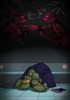 awww. I bet leo and raph get along pretty well now cuz they dont really fight anymore. & after leo was in that coma for six months he sure seemed like he cared about leo alot.