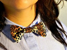 NEW Cheetah Print Bow Tie by jalapinocheddar