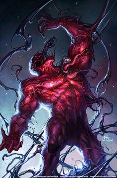 Absolute Carnage Cover by InHyuk Lee Marvel E Dc, Marvel Venom, Marvel Comics Art, Marvel Villains, Marvel Comic Universe, Marvel Heroes, Marvel Characters, Mysterio Marvel, Comic Books Art
