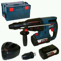 Bosch Akku-Bohrhammer GBH36VF-Li+2x36V 4,0Ah+AL3640CV+Wechselfutter+L-Boxx Gr.3