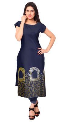 Blue plain crepe stitched kurti    Blue Kurtis, blue color kurtis, royal blue colour kurtis, blue Kurtis online, blue kurti Kurti, Shops, India, Stitch, Clothes For Women, Formal Dresses, Awesome, Blue, Beautiful